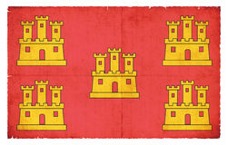 Grunge flag of Poitou-Charentes France Royalty Free Stock Photos