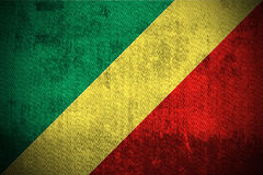 Grunge Flag Of Republic of the Congo royalty free stock photo