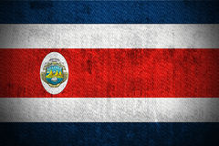 Grunge Flag Of Republic of Costa Rica stock image