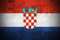 Grunge Flag Of Republic of Croatia Royalty Free Stock Images