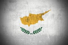 Grunge Flag Of Republic of Cyprus stock image