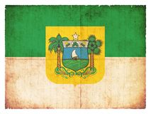 Grunge flag of Rio Grande do Norte Brazil Royalty Free Stock Photography