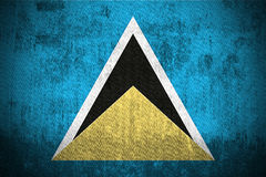 Grunge Flag Of Saint Lucia Royalty Free Stock Image