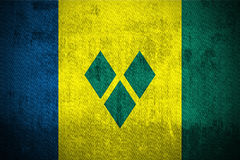 Grunge Flag Of Saint Vincent and the Grenadines Royalty Free Stock Images