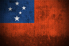 Grunge Flag Of Samoa Stock Image
