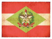 Grunge flag of Santa Catarina Brazil Stock Images