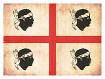 Grunge flag of Sardinia Italy Stock Photo