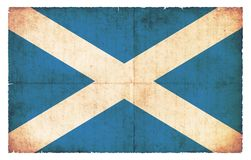 Grunge flag of Scotland Royalty Free Stock Photos