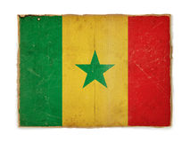 Grunge flag of Senegal Royalty Free Stock Photography