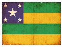 Grunge flag of Sergipe Brazil Royalty Free Stock Photography