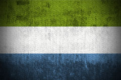 Grunge Flag Of Sierra Leone Stock Image