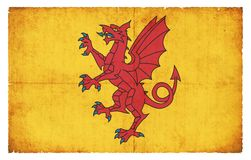 Grunge flag of Somerset Council Great Britain Stock Photo