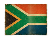 Grunge flag of South Africa. Weathered flag of South Africa, paper textured royalty free stock image