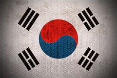 Grunge Flag Of South Korea vector illustration
