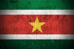 Grunge Flag Of Suriname Stock Image