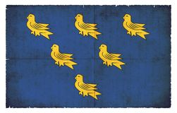 Grunge flag of Sussex Great Britain Stock Images