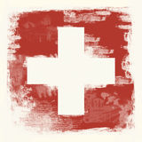 Grunge flag of Switzerland Royalty Free Stock Images