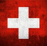 Grunge Flag Of Switzerland Royalty Free Stock Photography