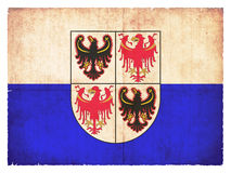 Grunge flag of Trentino-Alto Adige Italy. Flag of the italien region Trentino-Alto Adige created in grunge style Stock Image