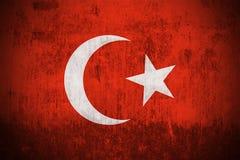 Grunge Flag Of Turkey royalty free illustration