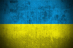 Grunge Flag Of Ukraine Royalty Free Stock Photo