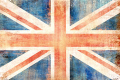 Grunge flag of United Kingdom Stock Images