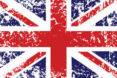 Grunge flag of United Kingdom royalty free illustration