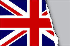 Grunge flag of United Kingdom. Grunge teared flag of United Kingdom Stock Images