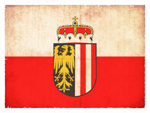 Grunge flag of Upper Austria Austria Stock Photography
