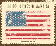 Grunge flag of USA  illustration Royalty Free Stock Images