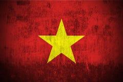 Grunge Flag Of Vietnam. Weathered Flag Of Vietnam, fabric textured Stock Photo