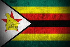 Grunge Flag Of Zimbabwe Stock Photography