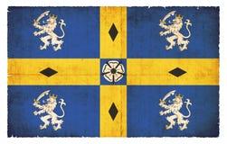 Grunge flaga Durham (Wielki Brytania) Obrazy Stock