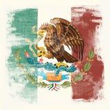 Grunge flaga Meksyk royalty ilustracja