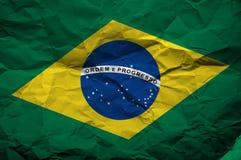 Grunge flagga av Brasil Royaltyfri Bild