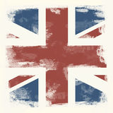 Grunge flagga av Great Britain Arkivfoton