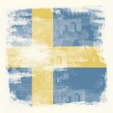 Grunge flagga av Sverige Arkivbilder