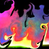 Grunge Flames Tile Royalty Free Stock Photography
