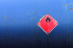 Grunge flammable symbol royalty free stock photography