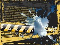 Grunge Flayer de ciel Images libres de droits