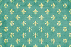 Grunge fleur de lis wallpaper stock illustration