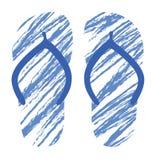 Grunge Flip Flops Stock Images