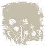 Grunge floral Imagem de Stock Royalty Free
