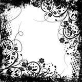 Grunge floral Imagen de archivo