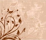 Grunge floral Fotografia de Stock