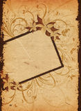 Grunge floral Imagen de archivo libre de regalías