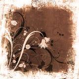 Grunge floral fotografía de archivo libre de regalías