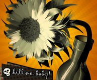 Grunge floral Stock Photos