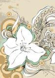 Grunge floral Imagens de Stock