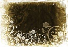 Grunge floral ilustração do vetor